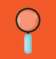 magnifying glass icon in modern flat style vector image vector image