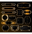 Decorative black golden labels vector image vector image