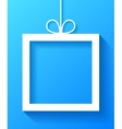 White Frame With Bow vector image vector image