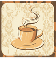 coffee cup retro vector image vector image