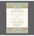 wedding invitation card brown blue vector image vector image