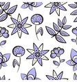 Seamless Pattern Purple Flowers vector image