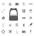 backpack icon summer set vector image