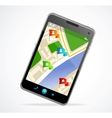 Gps navigator interface and city map vector image
