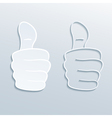 paper thumbs up vector image