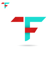 T and F letter icon vector image