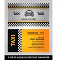 Business cards taxi vector image vector image