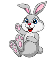 Cute rabbit bunny sitting vector image