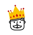 king with crown icon vector image
