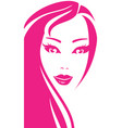 portrait of young pretty woman vector image