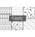 music notes seamless pattern set vector image
