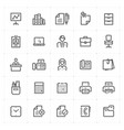 icon set - office and stationary vector image vector image
