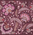 floral pattern flourish tiled oriental ethnic vector image