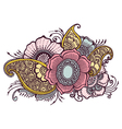 Doodle Flowers Floral vector image