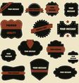 vintage retro ornate labels vector image vector image