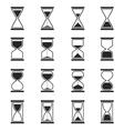 Sandglass and hourglass icons vector image