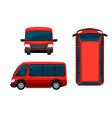 A red van vector image