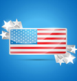 american flag label vector image