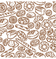 Bakery Sketch Seamless Pattern vector image