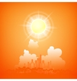 City on a sunny day vector image