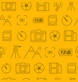 Different line style icons seamless pattern icons vector image