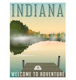 indiana travel poster or sticker vector image