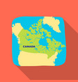 map of canada canada single icon in flat style vector image