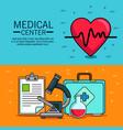 medical center concept design vector image