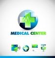 Medical center heartbeat logo icon design vector image