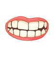 Mouth with white healthy teeth icon cartoon style vector image