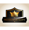 quality label vector image