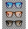 Realistic hipster sunglasses vector image