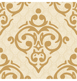 seamless baroque damask luxury golden background vector image