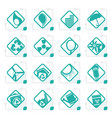 stylized ecology icons vector image