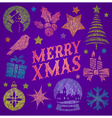 Hand drawn Christmas greeting vector image