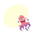 virus germ bacteria pathogen character with vector image