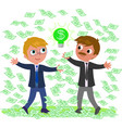successful idea for making money vector image vector image