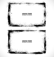 Grunge textured frames vector image vector image