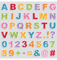 alphabet stickers vector image vector image