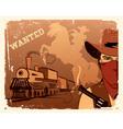 cowboy western vector image vector image