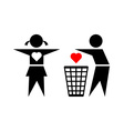 Betraying boy and his girlfriend vector image vector image