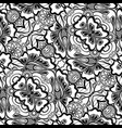 black and white seamless pattern with mosaic vector image