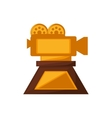 camera film trophy awards gold vector image
