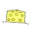 Comic cartoon cheese vector image