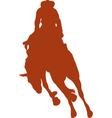 Cowboy rider silhouettes vector image