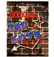 graffiti wall graphic vector image