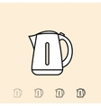 icon of electric kettle vector image