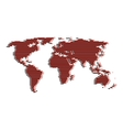 line red and black world map like digital noise vector image