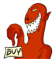 monster with buy message vector image