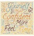 Quick ways to greater confidence text background vector image